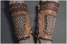 Brazales de Lagertha vikingos Cosplay por TheLeatherMaiden