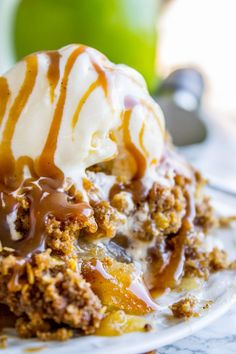 Apple Crisp, with a Ridiculous Amount of Streusel - The Food Charlatan