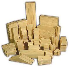 American Maple Wood Unit Blocks. Children's Wooden Building Blocks (catalog)