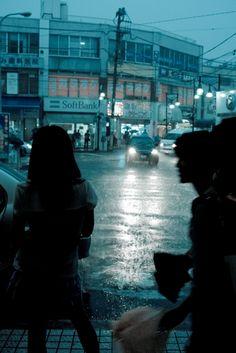 #city #nightlife #raining #weather #blueandgrey