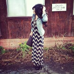 Chevron Maxi I love this dress- super cute with a great color combination. Dresses
