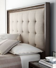 DIY Tufted Headboard 2019 A great DIY headboard tutorial- so much better than buying one Basement King? The post DIY Tufted Headboard 2019 appeared first on Fabric Diy. Diy Tufted Headboard, Diy Headboards, Headboard Ideas, Quilted Headboard, Headboard Frame, Bed Frame, Beige Headboard, Headboard Makeover, Studded Headboard