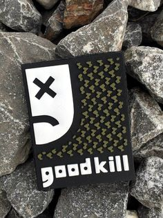 """goodkill"" Morale Patch Dimensions 2.25""x1.75"" Material PVC with velcro backing."