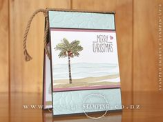 A fabulous and funky non-traditional Christmas card created by Jacque for our Hamilton Christmas Extravaganza, featuring the Totally Trees stamp set.  www.creativestamping.co.nz | Stampin' Up! | 2016 Holiday Catalogue