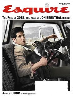 """""""The Walking Dead"""" and """"The Punisher"""" actor Jon Bernthal covers the Winter Issue of Esquire magazine photographed by Beau Grealy. Jon Bernthal, The Walking Dead, Cover Shoot, Ashley Judd, Punisher, Esquire, Bored Panda, Poses, Dog Love"""