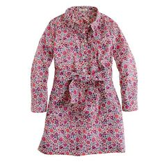 Girls' Liberty shirtdress in D'Anjo (Another to make with O+S Jumprope pattern!)