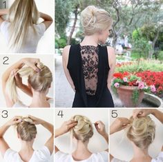 French twist hair tutorial.