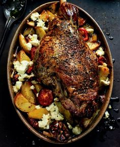 LAMB Kleftiko ~ combination of tomatoes, red pepper, potatoes & garlic