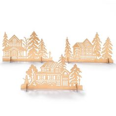 AVON LIVING CATALOG ---Winter Village Mantel Scene 3 piece set $14.99 www.yourAvon.com/rplattharendza