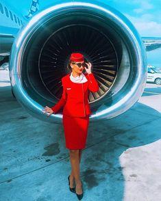 """S T E F A N I E LB on Instagram: """"✈️❤️ #fly #aviationlovers"""" Flight Girls, Cabin Crew, Flight Attendant, Dresses For Work, Instagram, Videos, Top, Crop Shirt, Shirts"""