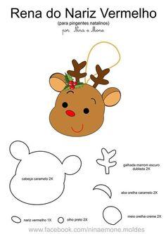 Mimo Artes: Moldes Grátis de Natal Felt Christmas Stockings, Felt Christmas Decorations, Xmas Ornaments, Christmas Crafts, Christmas Tree Template, Christmas Poinsettia, Christmas Cards Drawing, Felt Baby, Christmas Embroidery