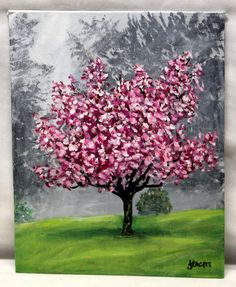 Lovely. . . . . . . . . . . . . .CHERRY BLOSSOM TREE original acrylic painting by ThisArtToBeYours