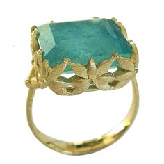For Sale on - Dalben design 18 kt engraved yellow gold Cocktail Ring with a Rectangular cut Aquamarine weighting carat . Ring size 7 USA - 54 EU resizable to most Aquamarine Gold Ring, Gold Diamond Rings, Diamond Cuts, Gold Rings, Ruby Rings, Trendy Fashion Jewelry, Fashion Jewelry Necklaces, Jewelry Rings, Jewlery