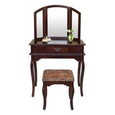 SEM209 - Masuță maro - pentru orice dormitor - http://www.emobili.ro/cumpara/sem209-masa-maro-toaleta-cosmetica-machiaj-cu-oglinda-masuta-vanity-cu-1039 #eMobili
