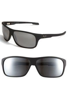 e292378550 Maui Jim  Island Time - PolarizedPlus®  Rectangle Wrap 64mm Sunglasses  available at  . Stylish Glasses For MenMens ...