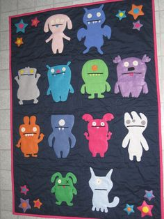 Ugly Doll quilt  - SO JEALOUS!!