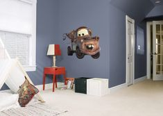 Disney Cars Bedroom. Mater Wall Decal. I can't help myself he's my favorite...How about you? Visit us and follow us on Pinterest for all your home decor and gift ideas.