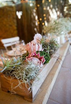 Protea is one of the latest trends in so have a look at the ideas to make your wedding super trendy! Protea bouquets are awesome and very original – just take one or several flowers. Protea Wedding, Lilac Wedding, Floral Wedding, Wedding Bouquets, Rustic Wedding, Wedding Flowers, Wedding Table Decorations, Wedding Centerpieces, Centrepieces