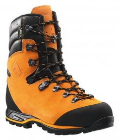 If you go down to the woods today........  New chainsaw protection boot by HAIX