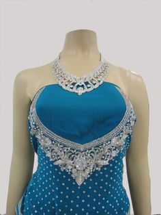 Blue jorget Saree  Blouse.  #lka #saree #fashion #ladies #indianstyle