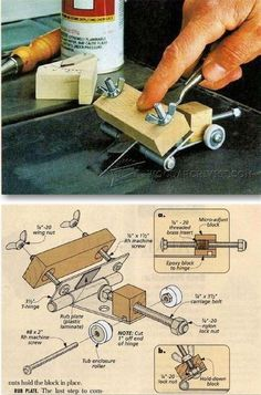 Chisel and Plane Iron Sharpening Jig - Sharpening Tips, Jigs and Techniques | WoodArchivist.com