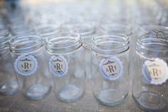 i need to start saving mason jars for people to drink out of at reception