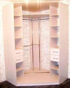 Как Вам идея угловой гардеробной в комнате