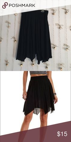Charlotte Russe Black Handkerchief Hem Skirt Super cute soft comfortable skirt worn twice, would love a new home! Charlotte Russe Skirts Mini