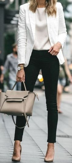 Fashion outfits classy chic casual 39 Ideas for 2019 Spring Dresses Casual, Summer Work Outfits, Casual Work Outfits, Blazer Outfits, Mode Outfits, Classy Chic Outfits, Spring Outfits, Winter Outfits, Casual Blazer