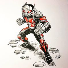 Here is an Antman from last years Inktober. I will be selling my 2018 Inktober artwork in my shop. Comic Book Characters, Comic Books Art, Comic Art, Guy Pictures, Pictures To Draw, Avengers Drawings, Epic Drawings, Comic Book Drawing, Marvel Cartoons