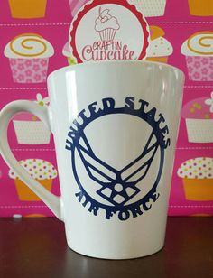 Check out this item in my Etsy shop https://www.etsy.com/listing/348573553/united-states-air-force-double-sided-mug