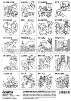 Tip k nákupu: Vyjmenovaná slova v obrázkové formě. Lze zpracovat i jako pexeso. Playing Cards, Bullet Journal, Notes, Learning, Languages, Homeschooling, Ideas, Language, Literatura