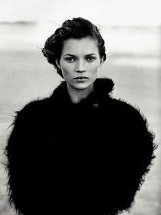 Magazine: Harper's Bazaar USYear: 1994Models: Kate MossPhotographer: Peter Lindbergh* http://fashographyscans.com/