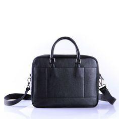 PRADA BUSINESS BAG IN CALF LEATHER BLACK VA0955 - Prada Mens - Prada Bags