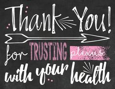 Plexus Thank You Postcard chalkboard style by PlumTreeGraphics