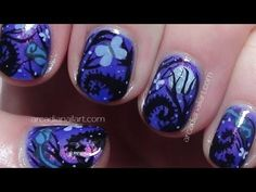Dark Forest Tim Burton Nails - 'The Corpse Bride' Inspired Nail Art *Collaboration*