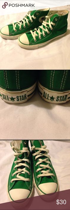 Green Converse Very Gently Used men's size 6 and Women's size 8 Converse Shoes