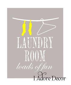 Laundry room print
