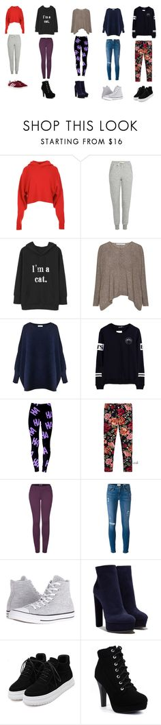 """""""unfancy outfit options for thanksgiving"""" by mrsromangodfrey ❤ liked on Polyvore featuring TIBI, Topshop, Paisie, Monnalisa Chic, 2LUV, Frame, Converse, Casadei, WithChic and adidas"""