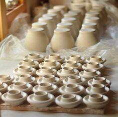 making small porcelain urns LucyFagella.com