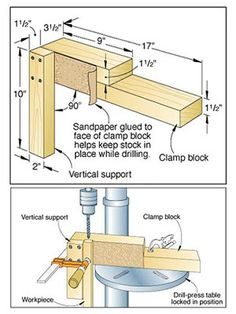 Bore vertical holes with scrap stock jig