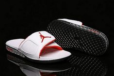 62643480fc50b Authentic Air Jordan Hydro 3 III Retro Slide White University Red-Black  854556-103