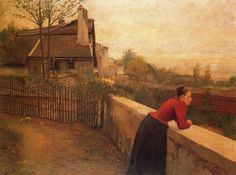 La Banlieue ( 1891) oil on canvas by Santiago Rusiñol