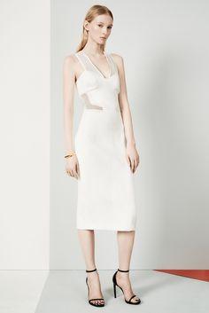 KLS Kimora Lee Simmons   Pre-Fall 2015   08 White sleeveless midi dress with mesh details