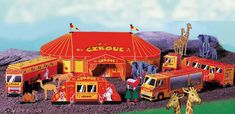 Classic French Circus Diorama Free Papercraft Download