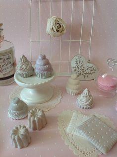 Gourmandises en plâtre patinées shabby : Accessoires de maison par miniatures-et-scrap-vero
