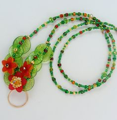 Flower Lanyard by BetsysBeadworks on Etsy, $18.00