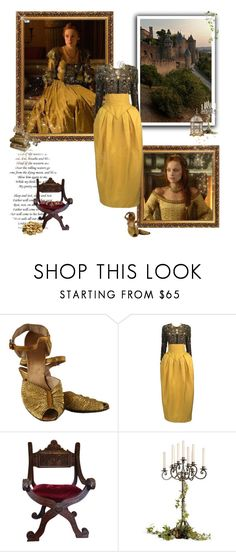 """Queen Elisabeth Tudor - Reign"" by greerflower ❤ liked on Polyvore featuring French Country and Vintage Collection"