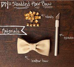 PARKER ETC - Parker Etc - DIY Studded Leather Hair Bow / DIY leather / DIY bow
