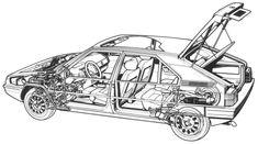 BX - cutaway line drawing